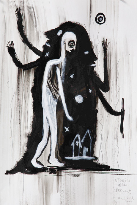 HENK VISCH Stories of the present, 2021 ink, acrylic, and pencil on paper 42 x 29,7 cm