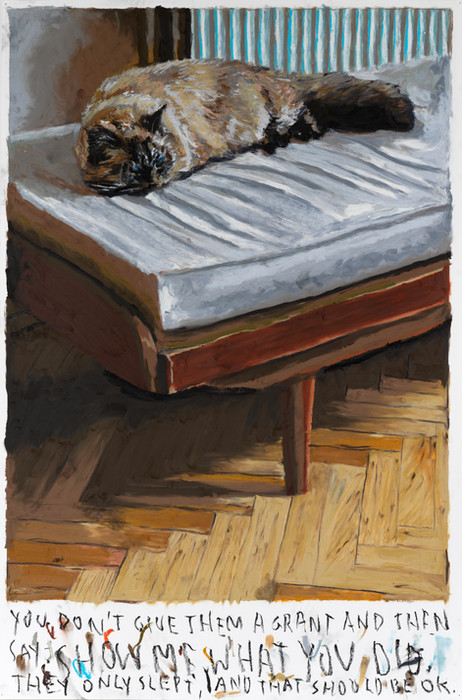 RINUS VAN DE VELDE You don`t give them a grant... , 2020 oil pastel on paper 110 x 73,2 cm