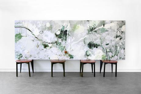 GELITIN Aliberthus, 2013 plasticine and wood on photograph 125 x 343 x 10 cm