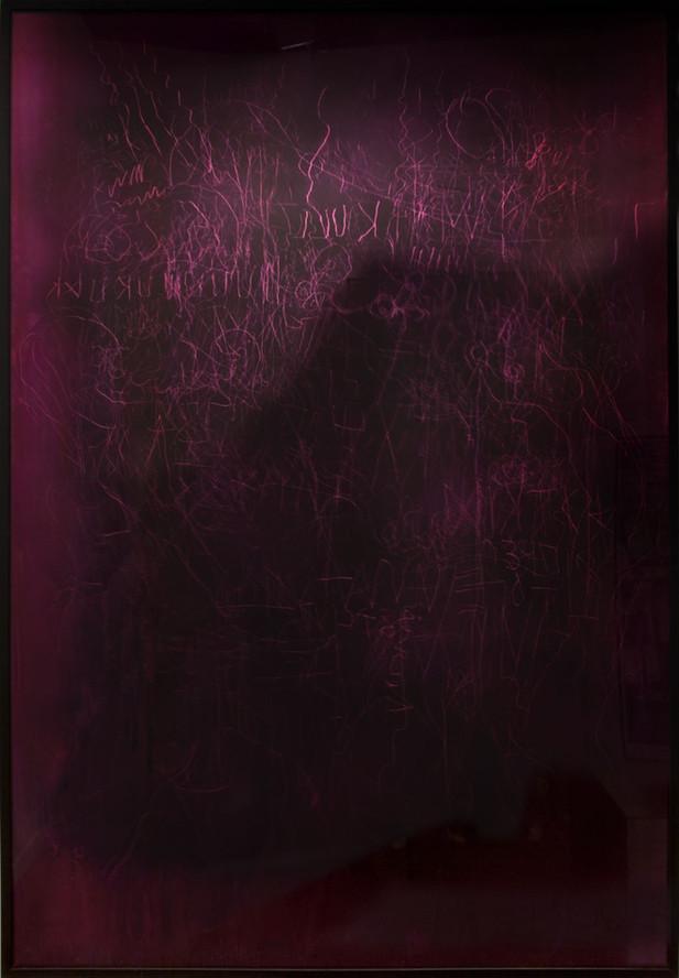 EDWARD LIPSKI Mystical Vandalism XXV, 2018 mirror perspex, custom car paint, steel 148 x 102,5 cm