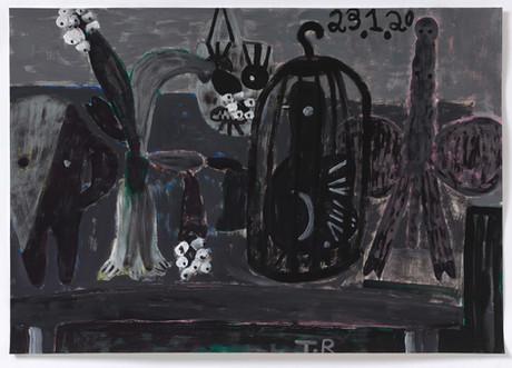 TAL R Zigzag & Demiurgen, 2020 gouache on paper 72 x 102 cm