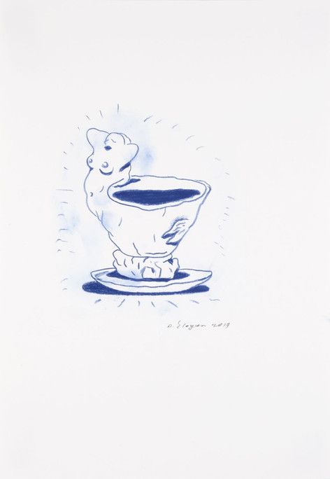 ARMEN ELOYAN Cup Drawing 3, 2019 pencil on paper, framed 42 x 29,7 cm