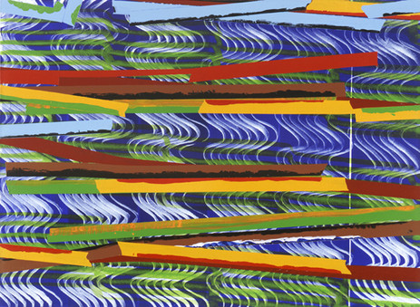 JUAN USLÉ Breaking Hopes, 2004-2005 41 x 56 cm Vinyl, dispersion and pigments on canvas