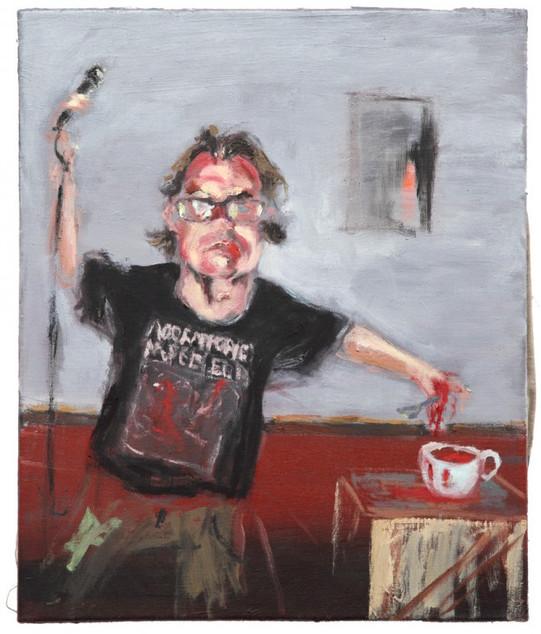 AARON VAN ERP, Zingend soep eten (Jonkheer Braeckderm), 2014-2015