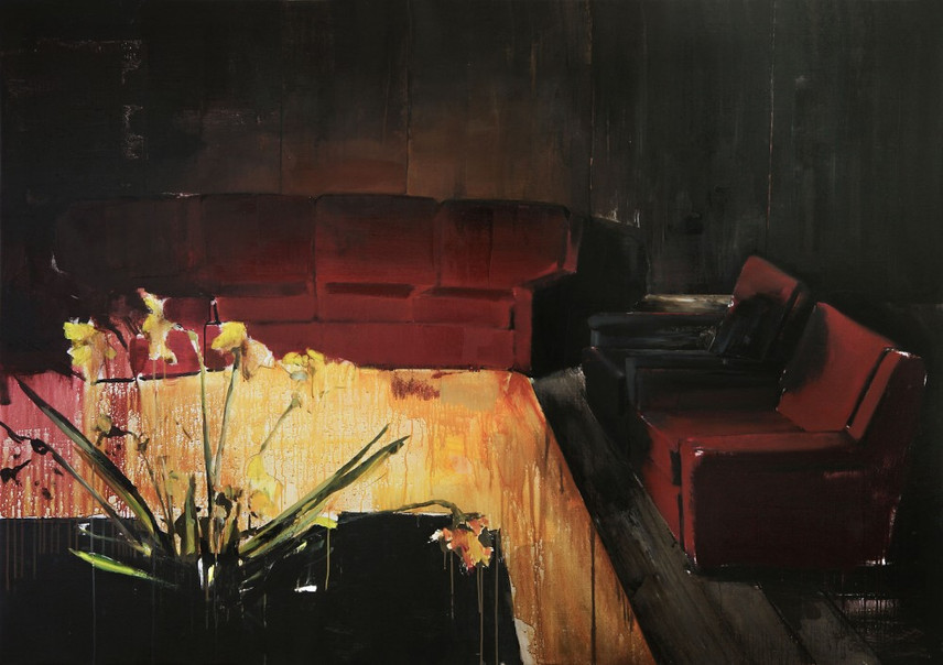 ADRIAN GHENIE, The red is on fire, 2008