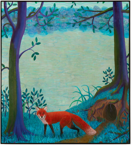BEN SLEDSENS The Red Fox, 2019 - 2020 oil and acrylic on canvas 200 x 180 cm