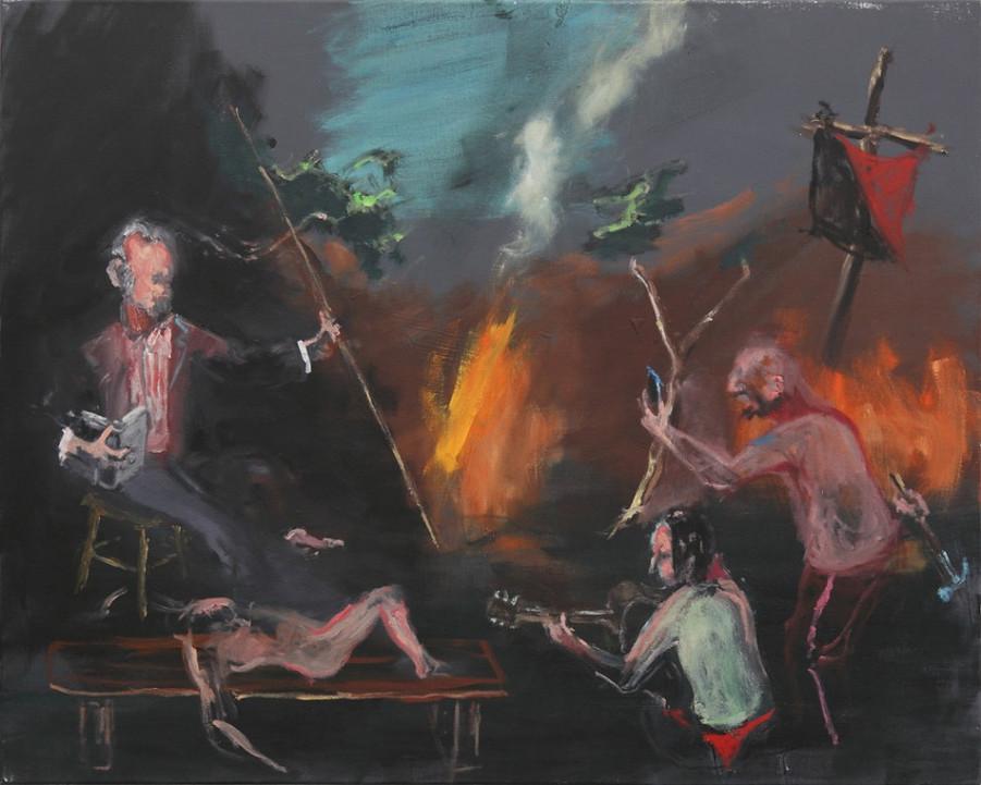 AARON VAN ERP, Ezra Pound bij het kampvuur op de ruïnes van Europa, 2014