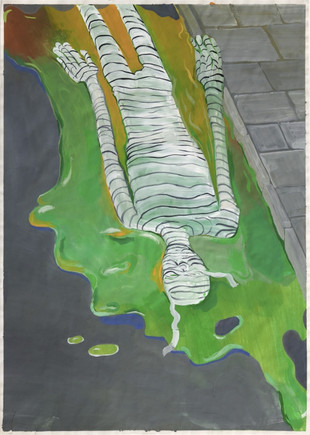 TOMASZ KOWALSKI Mummy in the Gutter (Slime), 2016