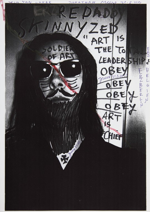 "JONATHAN MEESE, Manifest DRAGONBABY ""Johnny"" (Erzmuttersöhnchen on the Rocks), 2012"