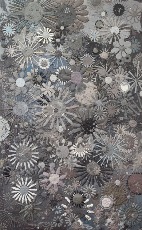GELITIN Flower Painting, 2013 plasticine painting 207 x 130 x 2 cm