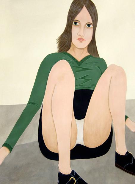 ED TEMPLETON Gent Schoolgirl, 2012 acrylic on paper 87 x 87 cm