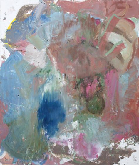 ANKE WEYER Bourbon, 2014 oil and acrylic on canvas 198 x 167,6 cm