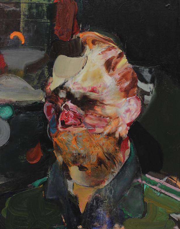 ADRIAN GHENIE Selfportait as Vincent Van Gogh 2, 2014 oil on canvas 50 x 40 cm