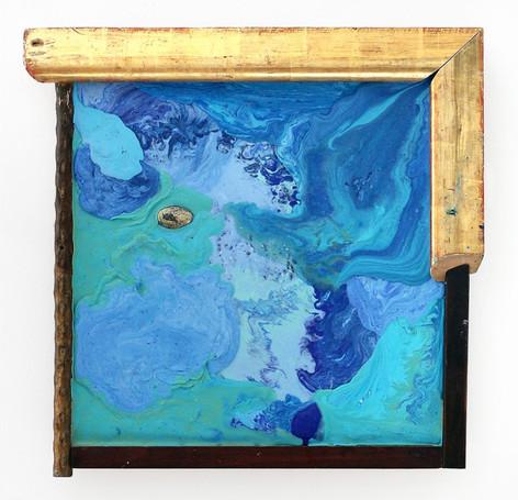 GELITIN Voulez vous changez la couleur, 2012 plasticine painting, wood 51 x 51 x 6 cm