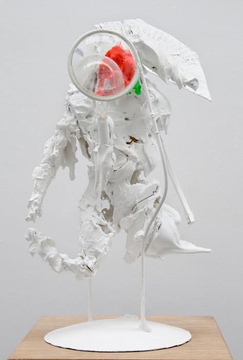 PETER ROGIERS Samurai, 2008 67 x 37 x 36 cm  epoxy, polyurethane foam, steel, glass, plastic, paint, fiberglas, wood, plexi