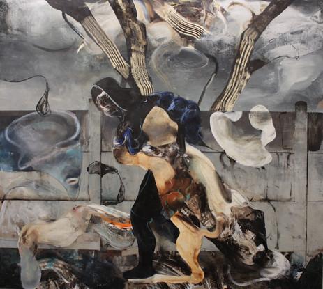 ADRIAN GHENIE Untitled (After Henri Rousseau), 2020 oil on canvas 270 x 300 cm