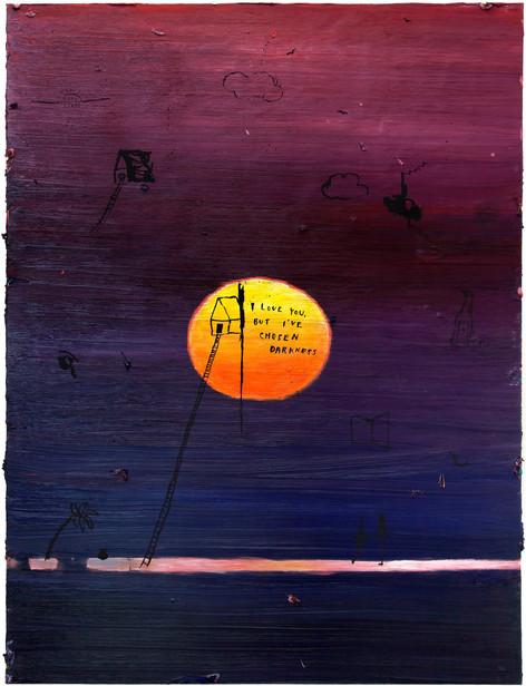 FRIEDRICH KUNATH I Love You, But I've Chosen Darkness, 2017 - 2018 oil on canvas, 121,9 x 91,4 cm