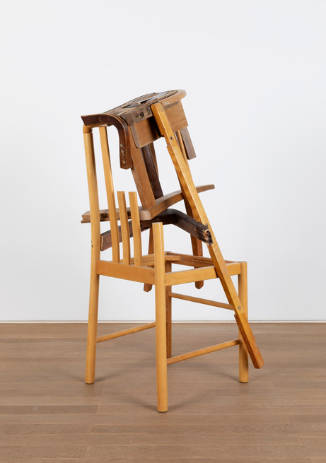 GELATIN Maria, 2011 wood, used furniture parts, metal 105 x 50 x 64 cm