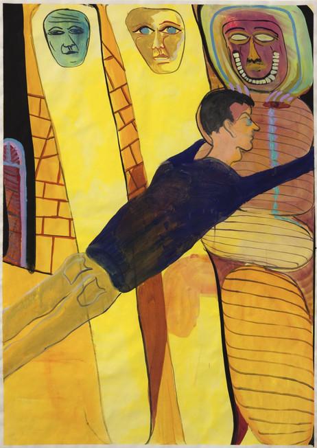 TOMASZ KOWALSKI Bez Tytulu, 2016 gouache on paper 100,5 x 74,5 cm
