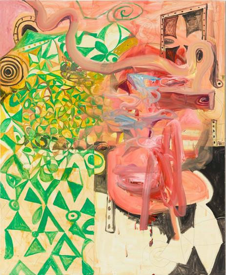 ANTON HENNING Pin-up No. 227, 2018 oil on canvas 220 x 180 cm