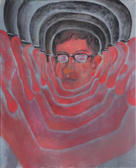 TOMASZ KOWALSKI The Beat, 2013 acrylic and oil on canvas 80 x 65 x 4 cm
