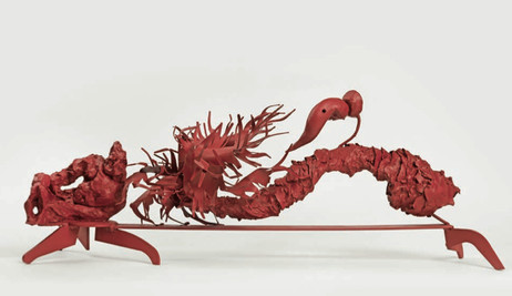 PETER ROGIERS, Swamp Thing talking to a red palm tree II, 2006 mixed media 37 x 77 x 27 cm