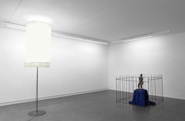 "FRANZ WEST: ""Big Lamp"", 2006 mixed media - 257,5 x 67 x 67 cm HENK VISCH: ""I want more of your time"", 2006  bronze, mixed media - unicat - 107 x 117 x 115 cm"