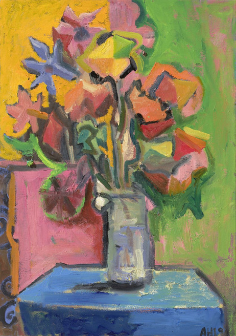 ANTON HENNING Blumenstilleben No. 504, 2019 oil on canvas 63,5 x 44,5 cm