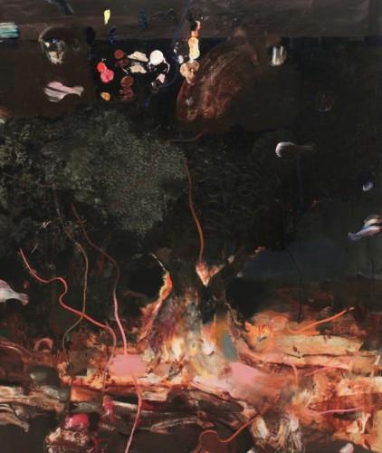 ADRIAN GHENIE Burning Bush, 2014 oil on canvas 200 x 240 cm