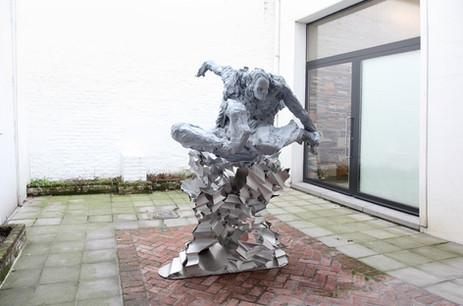 PETER ROGIERS, Sergeant Disciplinary, 2013-2014 197 x 135 x 154 cm acrylic resin and epoxy, aluminium base