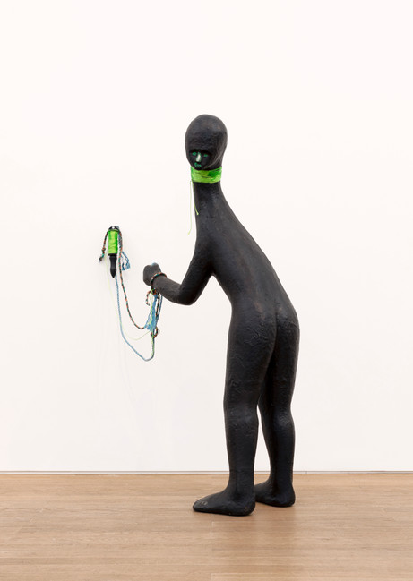 HENK VISCH Dancing Bear, 2020 bronze, rope, paint 137,5 x 81 x 85 cm edition of 2 and 1 A.P.