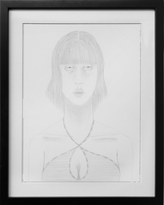 ED TEMPLETON, UNTITLED (girl with straight bangs, braces), 2015