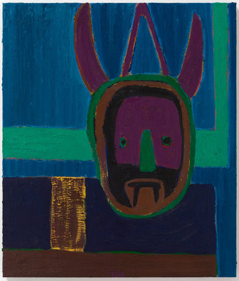 TAL R Wolfmask, 2019 oil on canvas 108 x 92 cm