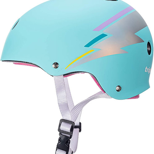 TEAL HOLOGRAM Triple 8 The Certified Sweatsaver Helmet
