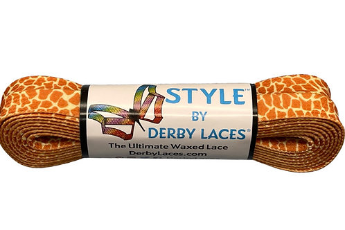 Giraffe –  STYLE Waxed Shoe and Skate Lace by Derby Laces