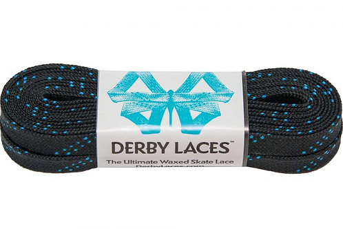 Black Derby Laces Waxed Roller Derby Skate Lace