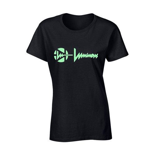 LUMINOUS - CLASSIC GLOW TSHIRT WOMENS - BLACK