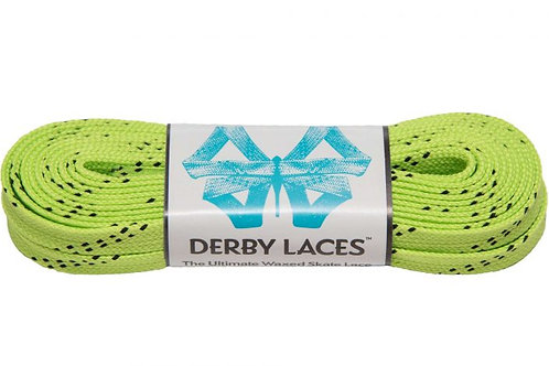 LIME GREEN DERBY LACES