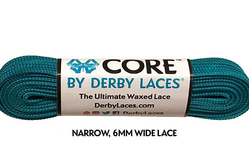 Teal  CORE Shoelace by Derby Laces (NARROW 6MM WIDE LACE)