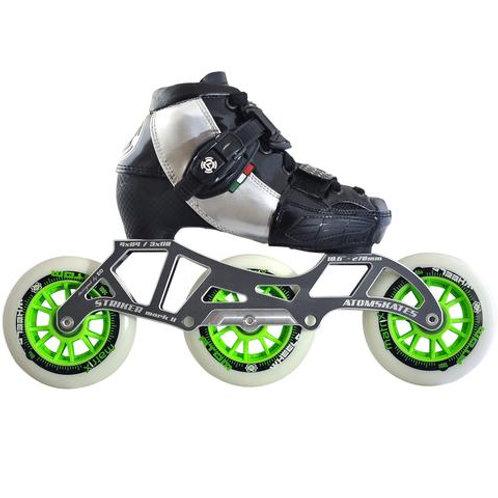 Luigino Kid's 3 Wheel Adjustable Challenge Outdoor Inline Skate Package