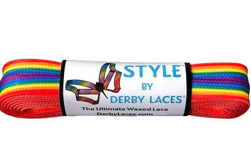 Rainbow Stripe – 60 inch (152 cm) STYLE Waxed Shoe and Skate Lace