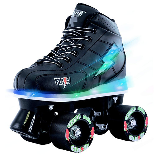 FLASH ROLLER SKATES LIGHT-UP WHEELS AND BOOTS