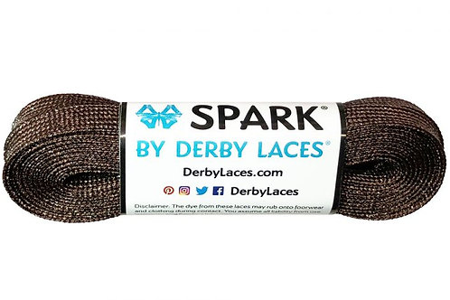 Brown SPARK by Derby Laces Metallic Roller Derby Skate Lace