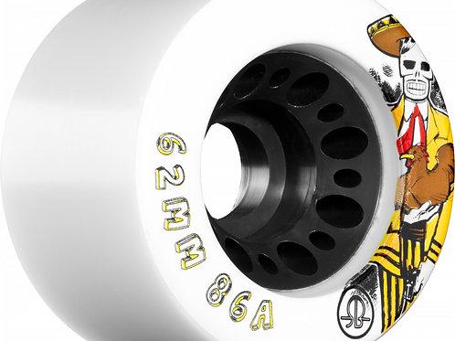 ROLLERBONES D.O.D. Outdoor Speed Wheel 62mm x 86a White 4 Pk