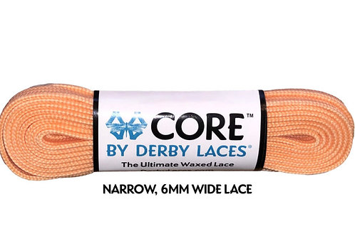 Peach CORE Shoelace by Derby Laces (NARROW 6MM WIDE LACE)