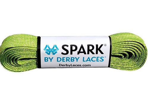 Lime Green  SPARK by Derby Laces Metallic