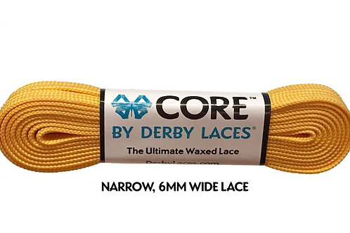 Sunflower Yellow 108 inch (274 cm) CORE Shoelace by Derby Laces (NARROW 6MM WIDE