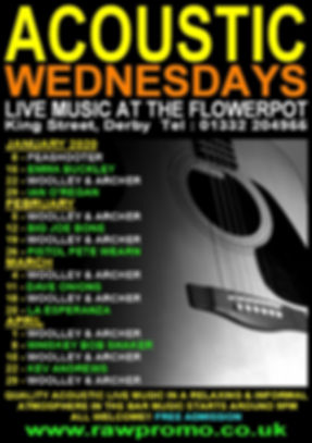 acoustic wednesdays january - april 2020