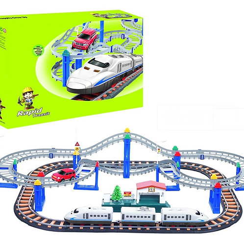 רכבת חשמלית על מסילה