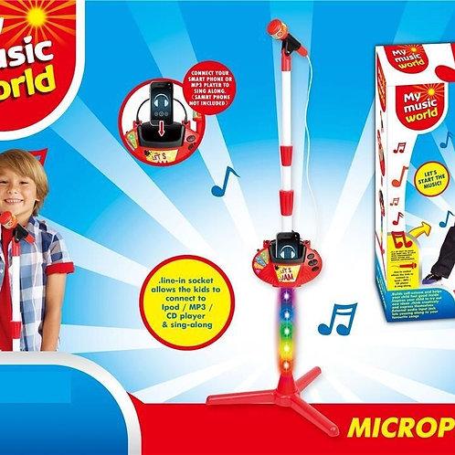 מיקרופון עומד עם אורות
